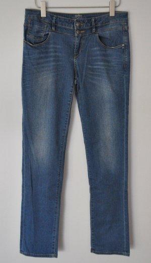 Esprit Jeans straight medium rise blau Gr. 30 | 34 Baumwolle Elasthan WIE NEU