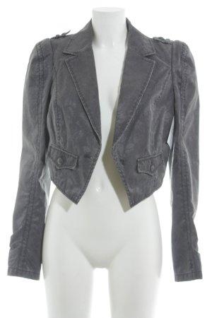 Esprit Blazer en jean gris-gris lilas motif floral style extravagant