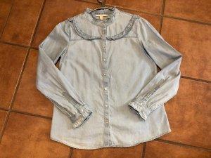Esprit Blouse en jean bleuet-bleu azur coton