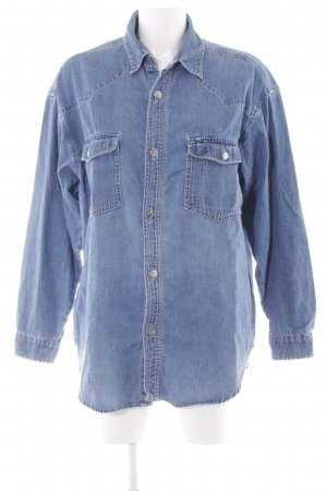 Esprit Chemise en jean bleu azur Aspect de jeans