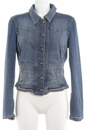 Esprit Jeansjacke neonblau Jeans-Optik