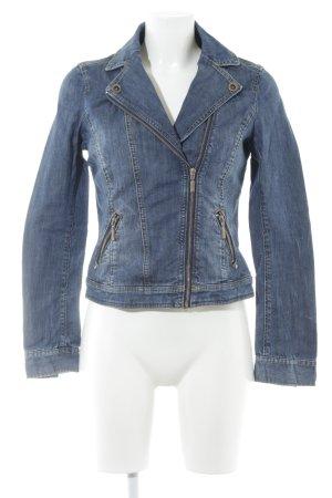 Esprit Jeansjacke blau Biker-Look