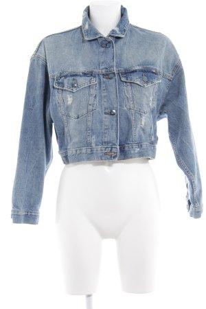 Esprit Jeansjacke blau Destroy-Optik