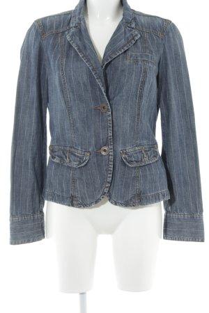 Esprit Jeansjacke blau Nadelstreifen Casual-Look