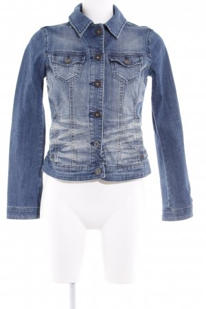 Esprit Jeansjacke blau Washed-Optik