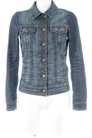 Esprit Jeansjacke dunkelblau Vintage-Look