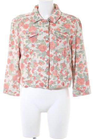 Esprit Jeansjacke florales Muster Casual-Look