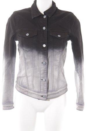 Esprit Jeansjacke hellgrau-schwarz Farbverlauf Casual-Look