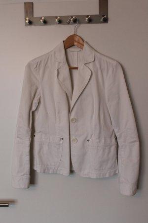 ESPRIT Jeansjacke Jeansblazer 100% Baumwolle 36 weiß figurbetont kombinierbar
