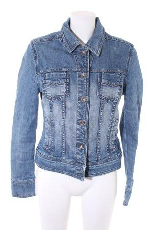 Esprit Jeansjacke kornblumenblau-stahlblau Vintage-Look