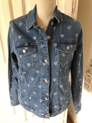 Esprit Jeansjacke mit Herzen neu mit Etikett