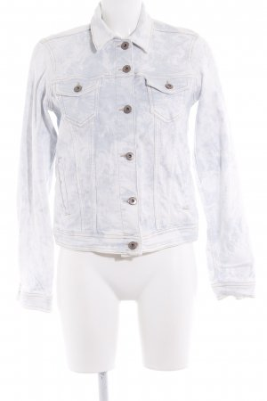 Esprit Jeansjacke weiß-graublau Batikmuster Casual-Look