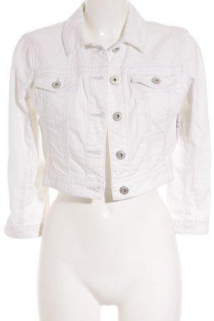 Esprit Jeansjacke weiß Street-Fashion-Look