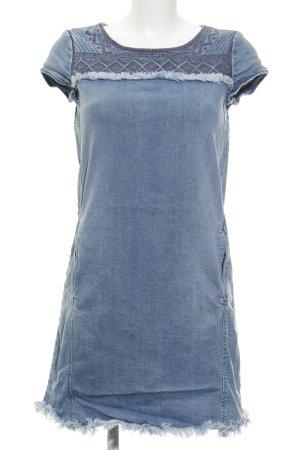 Esprit Jeanskleid himmelblau-dunkelgrau abstraktes Muster Casual-Look