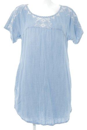 Esprit Jeanskleid kornblumenblau Aztekenmuster Casual-Look