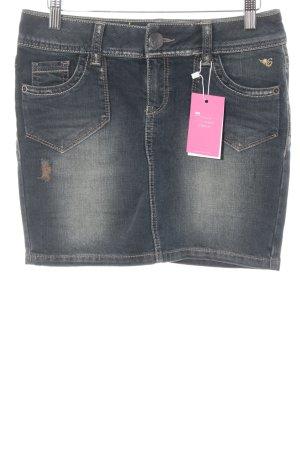 Esprit Jeansrock blassblau Washed-Optik