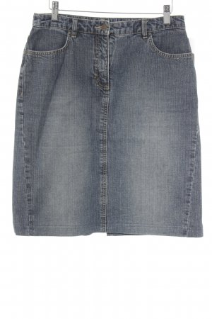 Esprit Jupe en jeans bleu style délavé