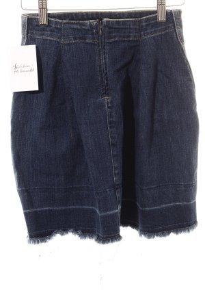 Esprit Jeansrock dunkelblau Destroy-Optik