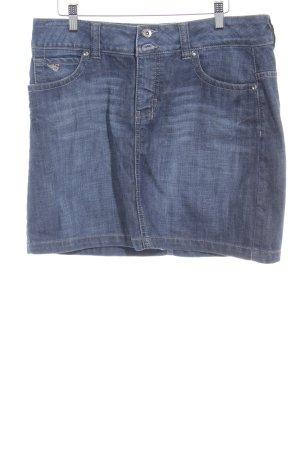 Esprit Jeansrock graublau-dunkelblau Casual-Look
