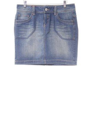 Esprit Jeansrock himmelblau-kornblumenblau Street-Fashion-Look