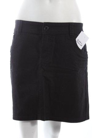 Esprit Falda vaqueras negro estilo sencillo
