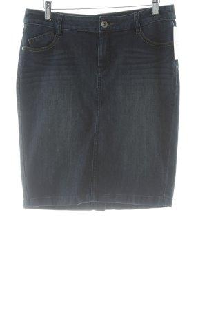 Esprit Jupe en jeans bleu acier style décontracté