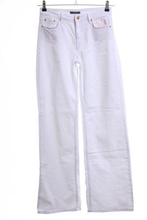 Esprit Jeans a zampa d'elefante bianco stile casual