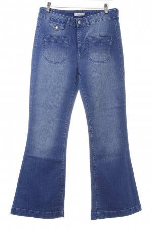 Esprit Jeansschlaghose blau Washed-Optik