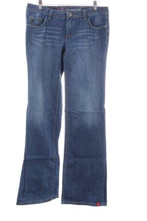 Esprit Jeans a zampa d'elefante blu stile casual