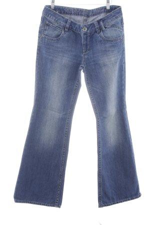 Esprit Jeans a zampa d'elefante blu acciaio stile casual