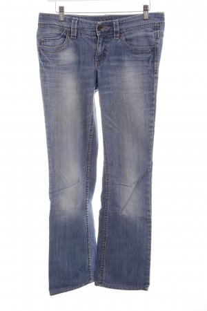 Esprit Jeansschlaghose stahlblau-hellblau Casual-Look
