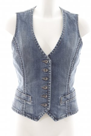 Esprit Denim Vest multicolored washed look