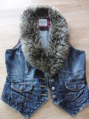 Esprit Smanicato jeans blu-marrone-grigio