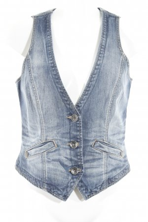 Esprit Denim Vest steel blue washed look