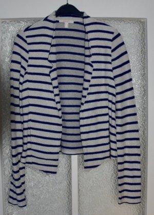 Esprit Jersey Blazer beige dunkelblau gestreift S