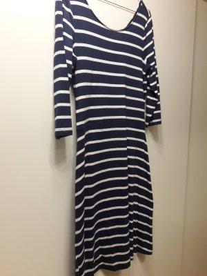 Esprit Jersey-Kleid 3/4-Arm Marine-Look blau-weiß gestreift Gr. S