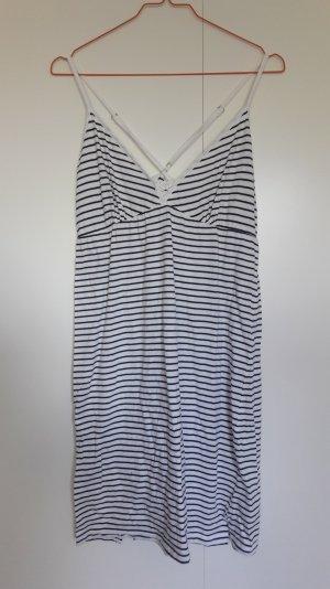 Esprit Jersey Nachthemd Strandkleid gestreift weiß dunkelblau Gr. 38