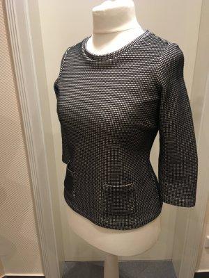 Esprit Camisa tejida negro-blanco puro tejido mezclado