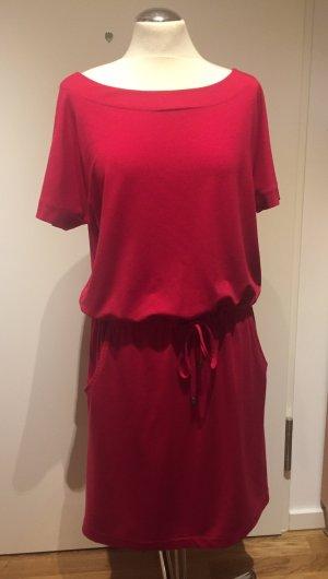 Esprit Vestido estilo camisa rojo frambuesa-magenta