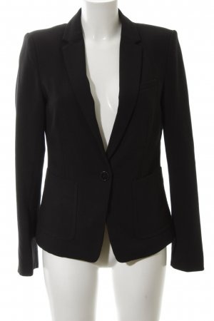 Esprit Jerseyblazer schwarz Allover-Druck Business-Look