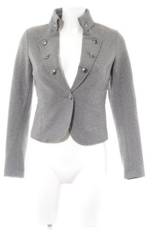Esprit Jersey blazer grijs gestippeld casual uitstraling