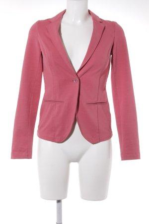 Esprit Jerseyblazer rosa-schwarz Webmuster Casual-Look