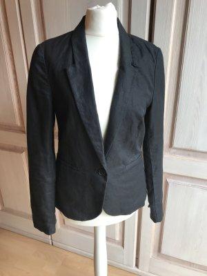 ESPRIT Jerseyblazer schwarz Business Damen 36 Blazer Baumwolle Freizeit waschbar