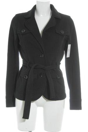 Esprit Jersey blazer zwart casual uitstraling