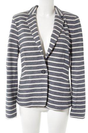 Esprit Jersey blazer wit-leigrijs gestreept patroon casual uitstraling