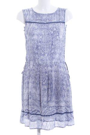 Esprit Jerseykleid weiß-blau abstraktes Muster Casual-Look