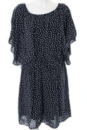 Esprit Jerseykleid schwarz-weiß Allover-Druck Casual-Look