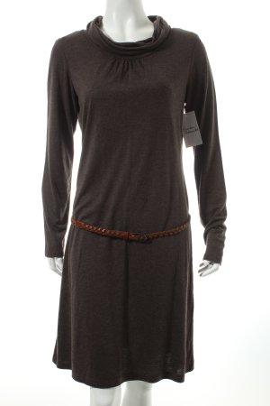 Esprit Jerseykleid dunkelbraun meliert schlichter Stil
