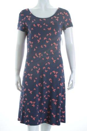 Esprit Jerseykleid kornblumenblau-hellrot Animalmuster Casual-Look