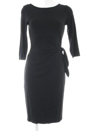 Esprit Vestido de tela de jersey negro estilo clásico